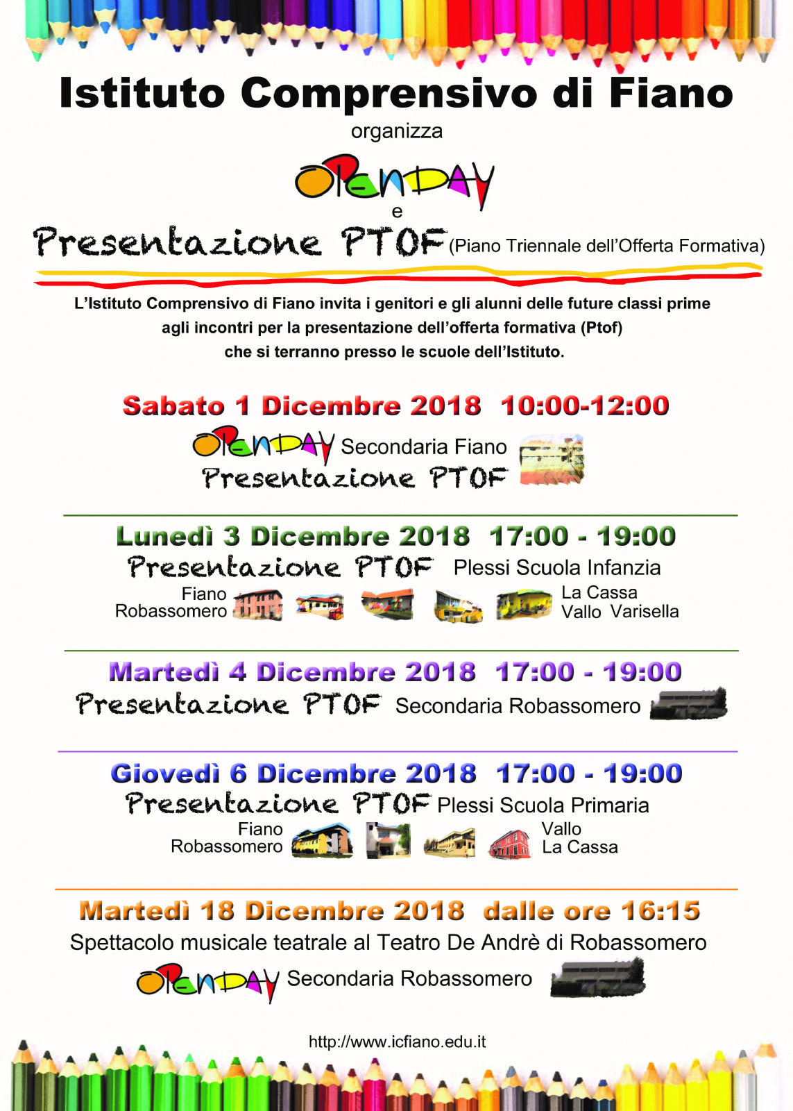 OPEN DAY ISTITUTO COMPRENSIVO FIANO